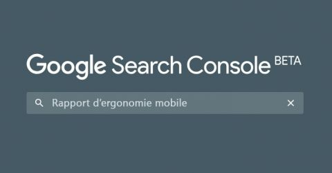 Le rapport d'ergonomie mobile disponible dans la nouvelle Google Search Console